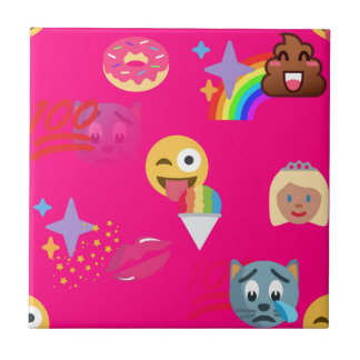 hot pink emoji tile
