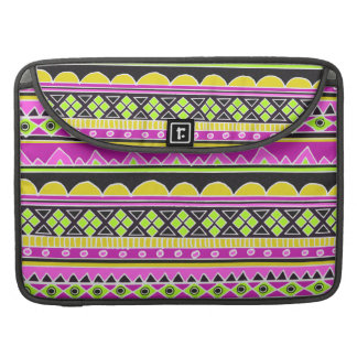 Hot Pink ethnic pattern Sleeves For MacBook Pro