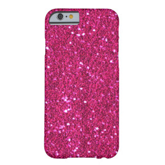 Hot Pink Faux Glitter iPhone 6 case Barely There iPhone 6 Case
