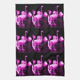 Hot Pink Flamingo Kitchen Towel