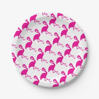 Hot Pink Flamingo Paper Plate