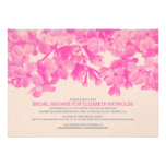 Hot Pink Floral Bridal Shower Invitations Invitations