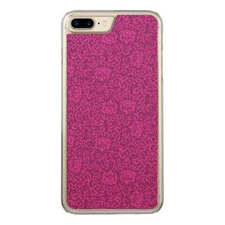 Hot Pink Floral Renaissance Damask Carved iPhone 7 Plus Case