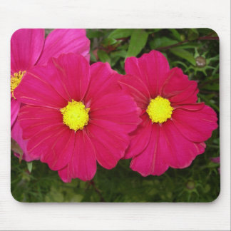 Hot pink flower mousepad