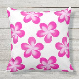 Hot Pink Flower Pattern Throw Pillow