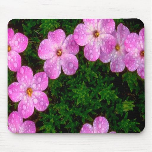 Hot Pink Flowers Mousepads