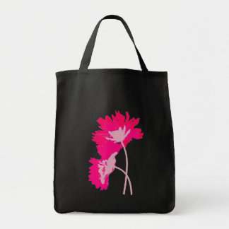 Hot Pink Flowers Purse Tote Bag