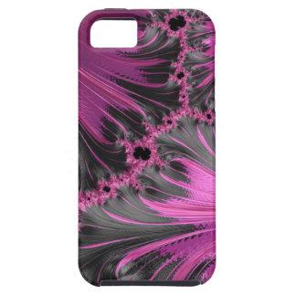 Hot Pink Fuchsia Black Swirl Feather Fractal Art iPhone 5 Cases