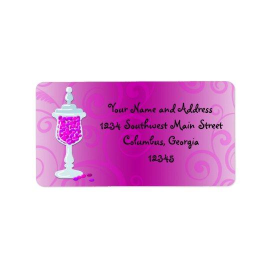 Hot Pink Fuchsia Candy Buffet Label
