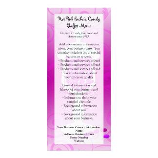 Hot Pink Fuchsia Candy Buffet Rack Card