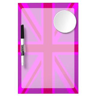 Hot Pink Fuchsia Union Jack Decor Dry Erase Whiteboard