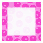 Hot Pink Funky Retro Pattern. Personalized Announcement