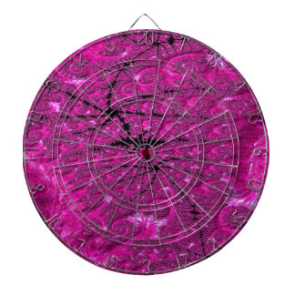 Hot Pink Fusion Fractal Dartboard