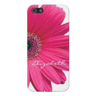 Hot Pink Gerber Gerbera Daisy Personalize iPhone 5/5S Case