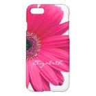 Hot Pink Gerber Gerbera Daisy Personalized iPhone 8/7 Case