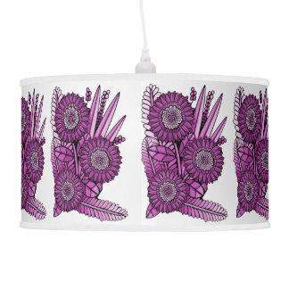 Hot Pink Gerbera Daisy Flower Bouquet Pendant Lamp