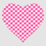 Hot Pink Gingham Chequered pattern