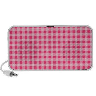 Hot Pink Gingham Notebook Speakers