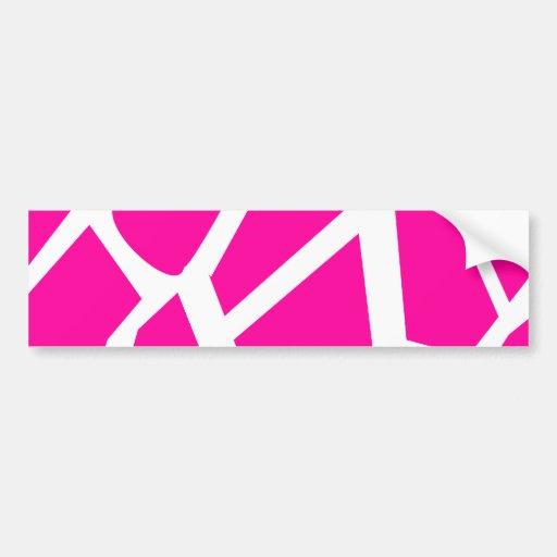 Hot Pink Giraffe Pattern Wild Animal Prints Bumper Stickers