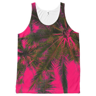 Hot Pink Girly Summer Palm Tree