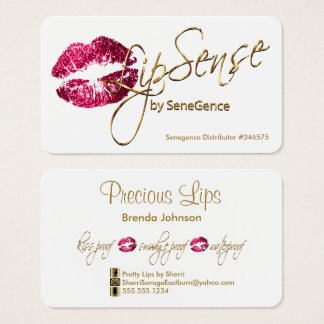 Hot Pink Glitter and Gold - White Business Card