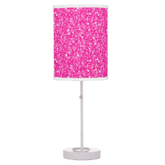 Hot Pink Glitter And Sparkles Pattern Table Lamp