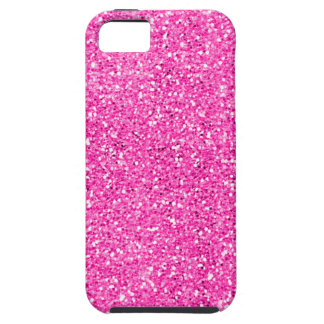 Hot Pink Glitter iPhone 5 Cases