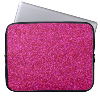 Hot Pink Glitter Laptop Sleeve