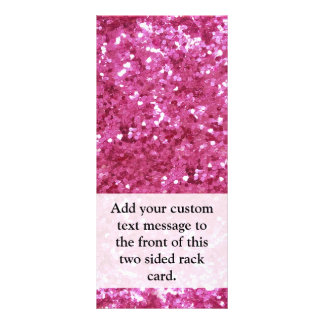 Hot Pink Glitter Look Rack Card Design