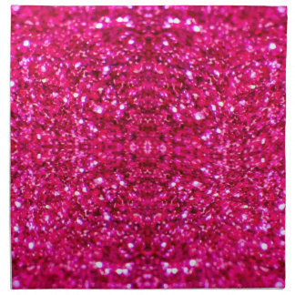 hot pink glitter napkin