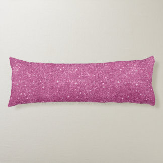 Hot Pink Glitter Sparkles Body Pillow