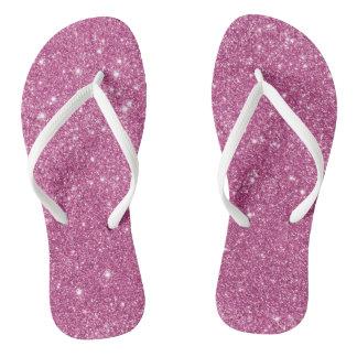 Hot Pink Glitter Sparkles Flip Flops