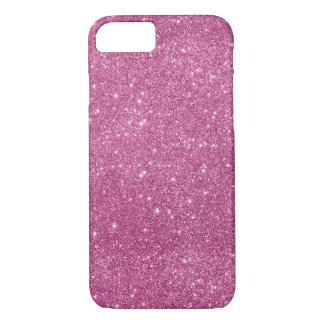 Hot Pink Glitter Sparkles iPhone 8/7 Case
