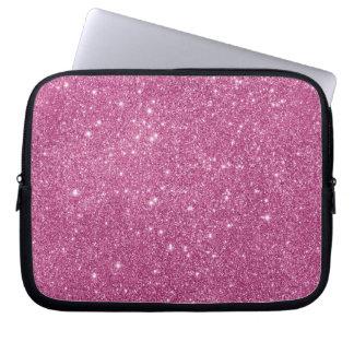 Hot Pink Glitter Sparkles Laptop Sleeve