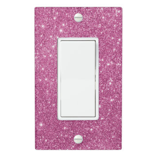 Hot Pink Glitter Sparkles Light Switch Cover