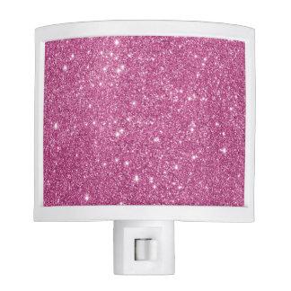 Hot Pink Glitter Sparkles Nite Lite