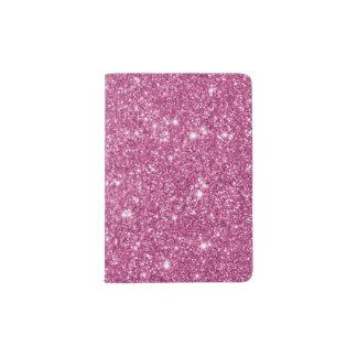 Hot Pink Glitter Sparkles Passport Holder