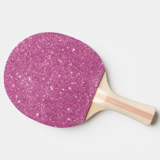 Hot Pink Glitter Sparkles Ping Pong Paddle
