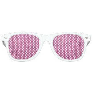 Hot Pink Glitter Sparkles Retro Sunglasses