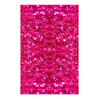 hot pink glitter stationery