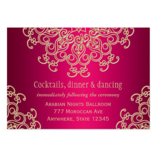 Hot Pink Gold Indian Inspired Enclosure Card Large Business Card