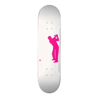 Hot Pink Golf Skate Board Decks