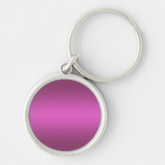 Hot Pink Gradient - Customized Rainbows Template Keychain