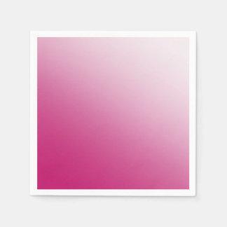 Hot Pink Gradient Paper Napkin