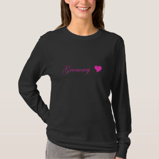 Hot Pink Grammy With Heart T-Shirt