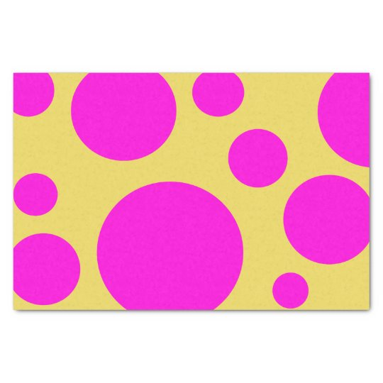 HOT PINK GRAPHIC POLKA DOT PATTERN TISSUE PAPER