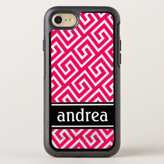 Hot Pink Greek Key OtterBox Symmetry iPhone 7 Case