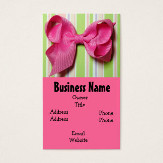 Hot Pink Hair Bow Business Card