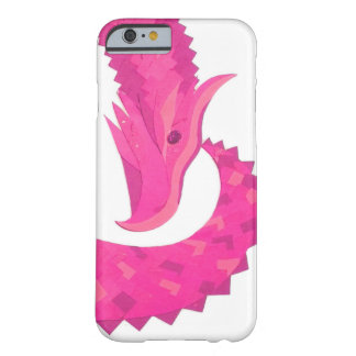 Hot pink heart dragon on white barely there iPhone 6 case