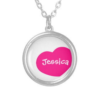 Hot Pink Heart Necklace